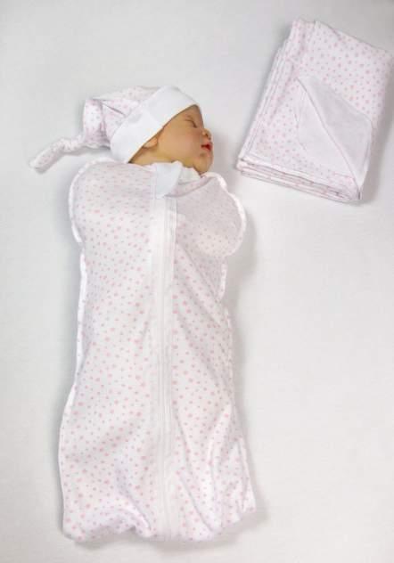 Пеленка-кокон с шапочкой Amarobaby Soft Hugs Звезды розовые, р. 56-68
