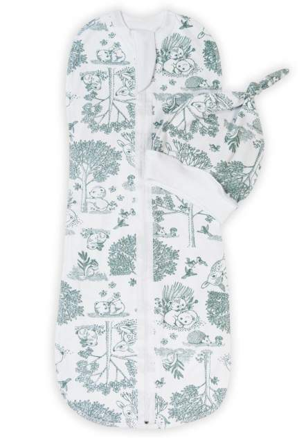 Пеленка-кокон с шапочкой Amarobaby Soft Hugs Лесная сказка, р. 68-74