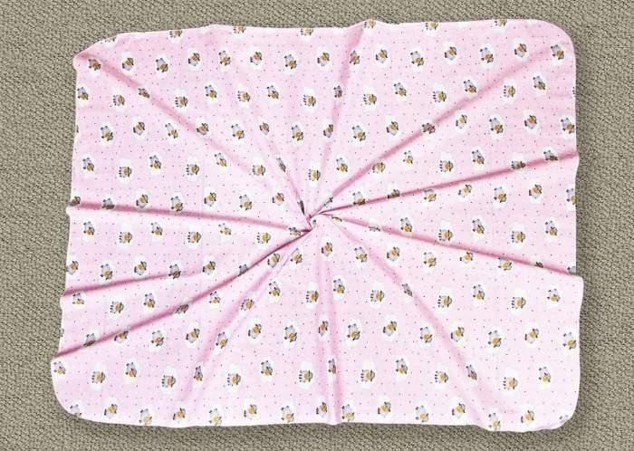 Пеленка ситцевая Amarobaby Emotion Овечки розовый