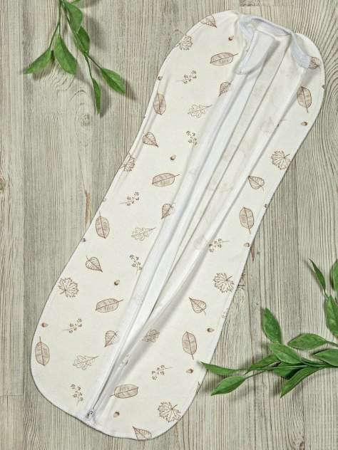 Пеленка-кокон Amarobaby Soft Hugs Листья, р. 56-68