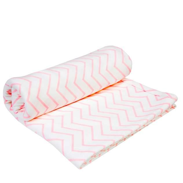 Пеленка-плед Amarobaby Soft Hugs Зигзаг розовый двухслойная трикотажная