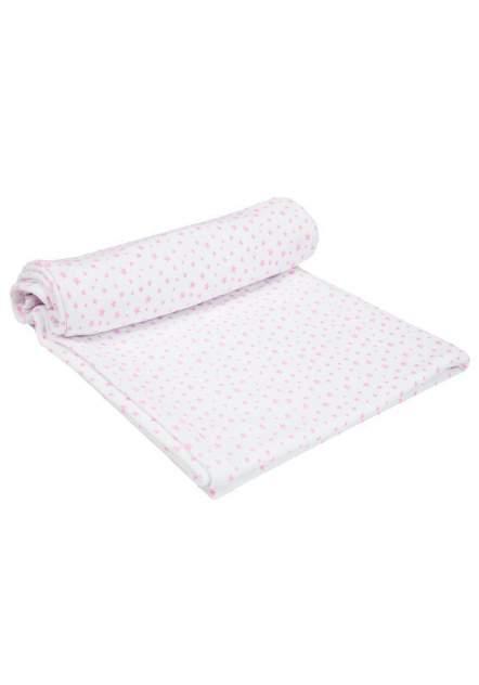 Пеленка-плед Amarobaby Soft Hugs Звезды розовые двухслойная трикотажная