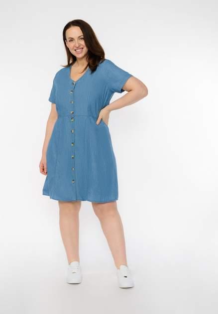 Платье женское Modis M201D00356T003 голубое 54