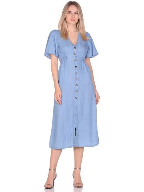 Платье женское Modis M201D00415T003 голубое 42