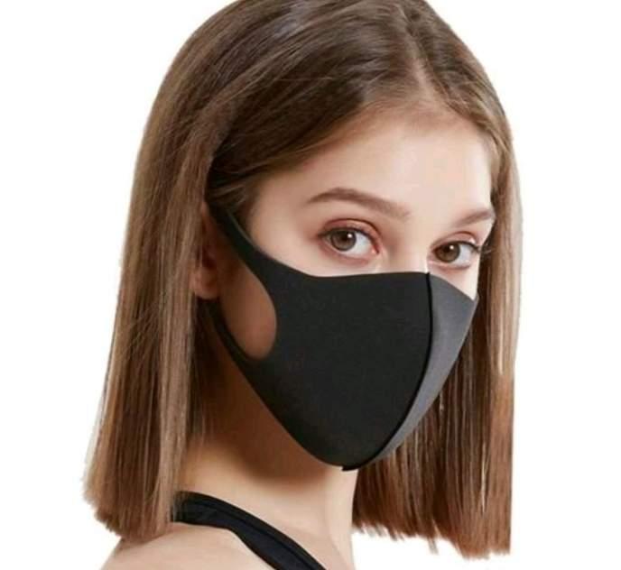 Маска неопреновая многоразовая Texture Mask 1 мм черная 1 шт.
