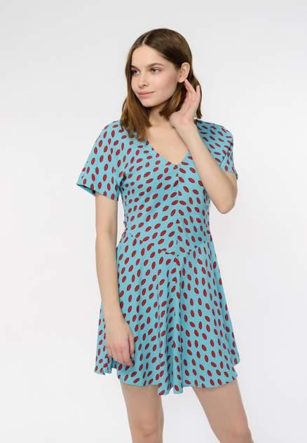 Платье женское Modis M201W00491Y076 голубое 44