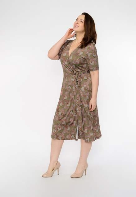 Платье женское Modis M201W00576O763 зеленое 4XL