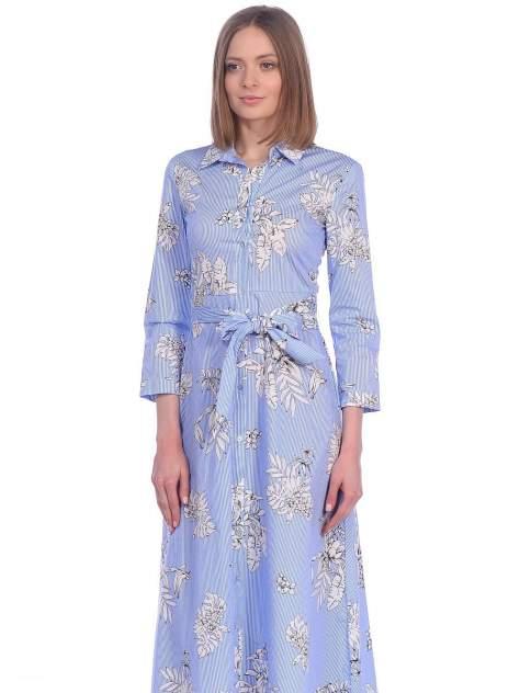 Платье женское Modis M201W01119S258 голубое 42