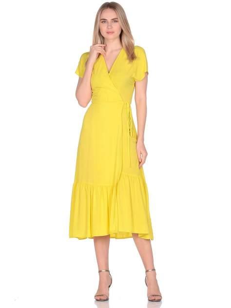 Платье женское Modis M201W01145P504 желтое 48