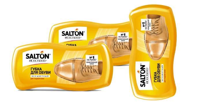 Губка для обуви SALTON Волна для гладкой кожи бесцветная (набор из 3 штук)
