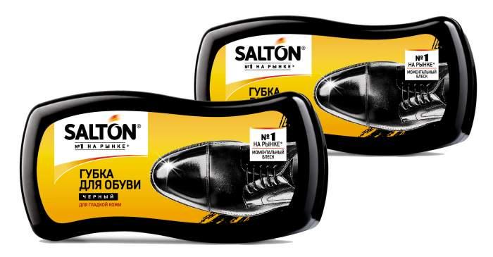 Губка для обуви SALTON Волна для гладкой кожи черная (набор из 2 штук)