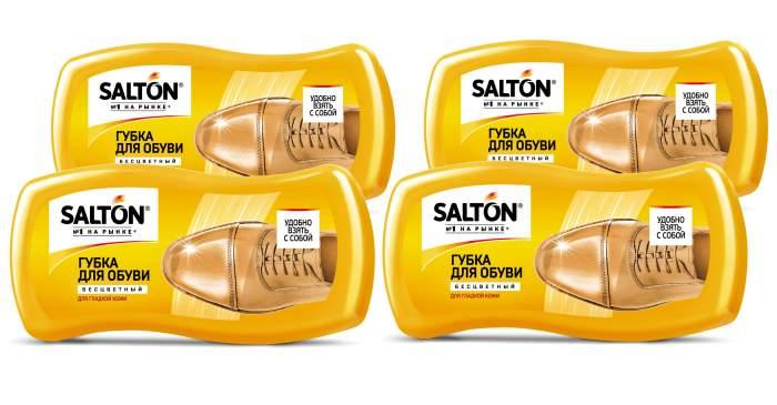 Губка для обуви SALTON Волна МИНИ для гладкой кожи (набор из 4 штук)
