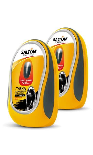 Губка для обуви SALTON для гладкой кожи с дозатором черная (набор из 2 штук)