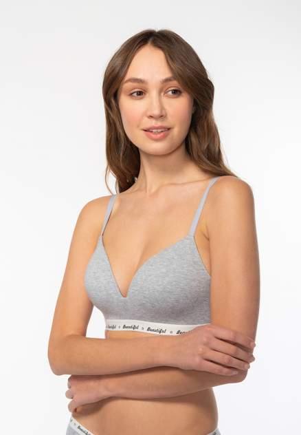 Бюстгальтер женский Modis M201U00496 серый 75A