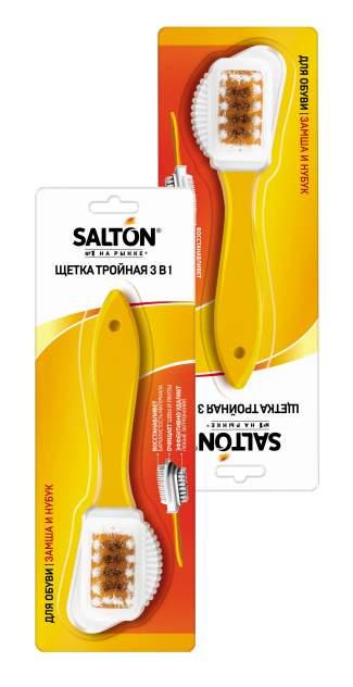 Щетка для обуви SALTON тройная для замши и нубука (набор из 2 штук)