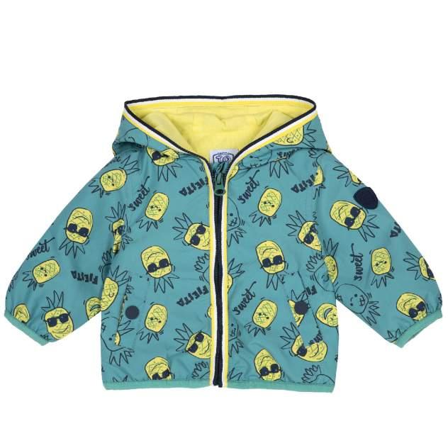 Куртка Chicco для мальчиков зеленая, с карманами на кнопке, размер 98
