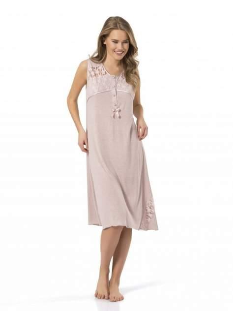 Ночная сорочка женская Turen 3124 pudra розовая 2XL