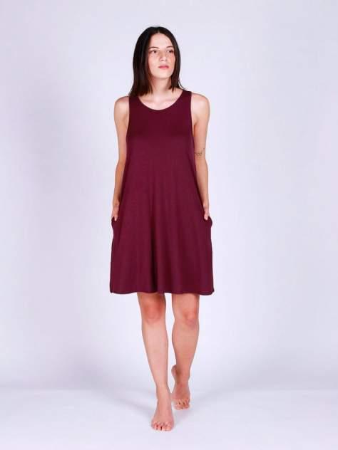 Домашнее платье женский HayS 30596-B116 бордовый S