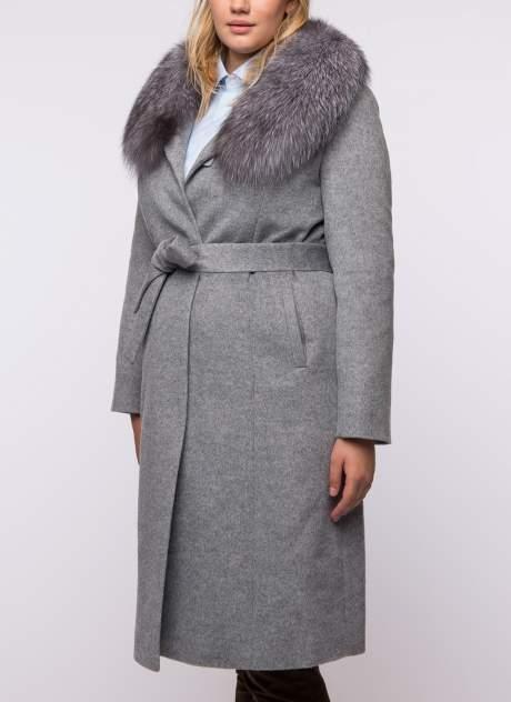 Пальто женское Каляев К-18-421 серое 52 RU