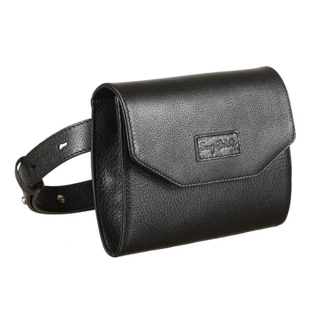 Напоясная сумка женская Sergio Belotti 7008 black Caprice