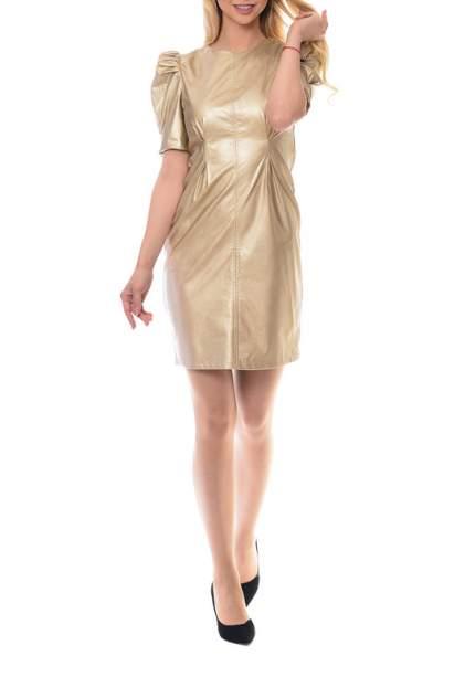 Платье женское N.A.Z. 61621 золотистое 42 RU