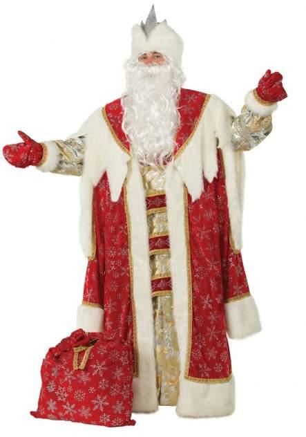Карнавальный костюм Батик Дед Мороз, цв. красный р.182