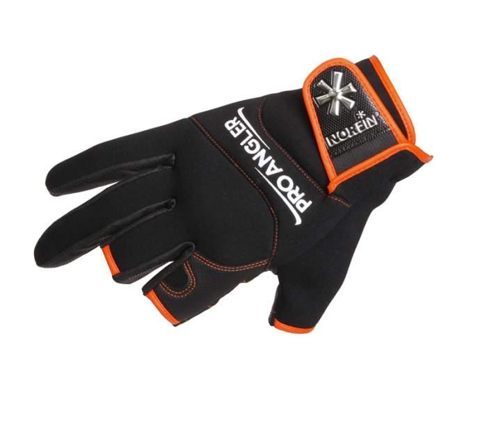 Перчатки мужские Norfin Pro Angler 3 CUT Gloves 3, черные/оранжевые, L