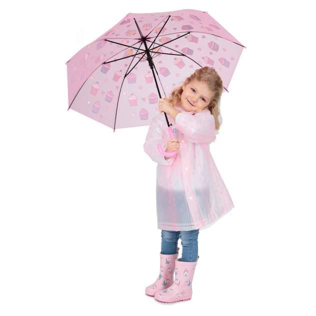 Дождевик детский Kidix, цв. розовый