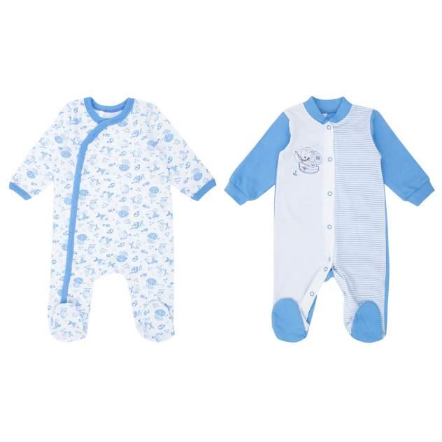 Комбинезон детский Leader Kids, цв.белый, голубой