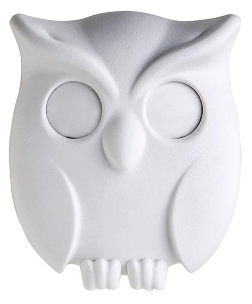 Держатель для ключей Qualy Night Owl белый