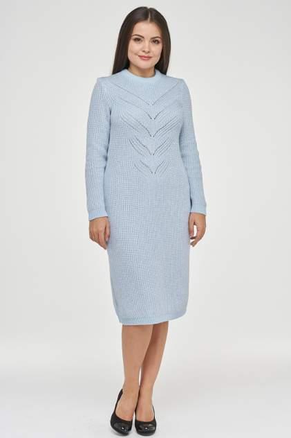 Платье женское VAY 182-2378 голубое 52 RU