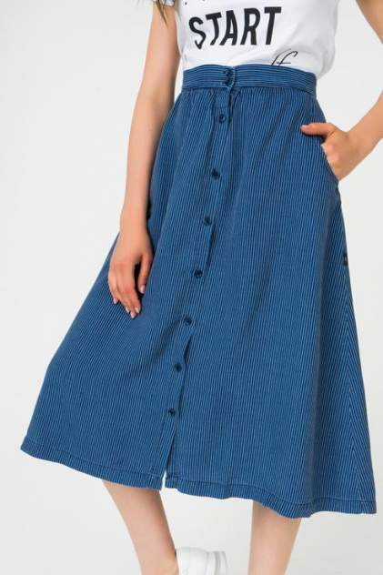 Юбка женская LTB 60611 синяя M