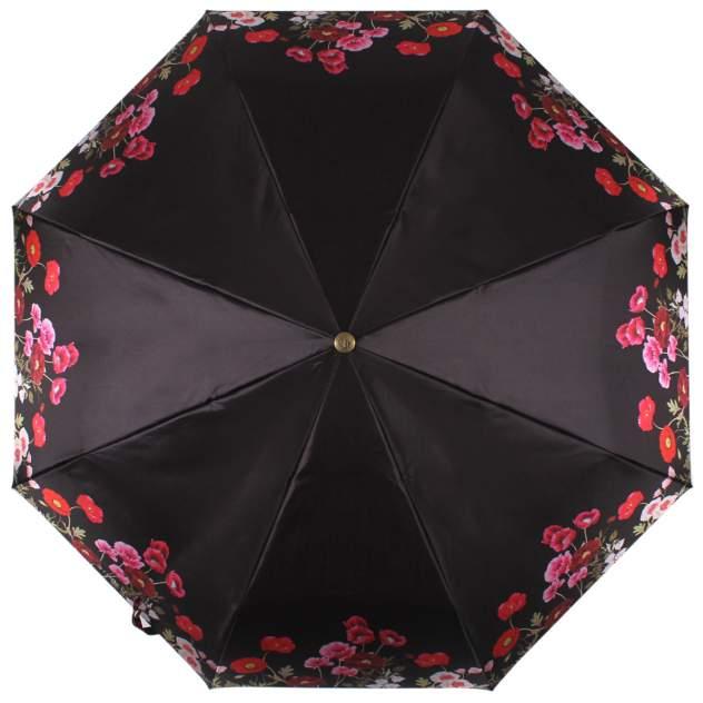 Зонт складной женский автоматический Flioraj 23141 FJ черный
