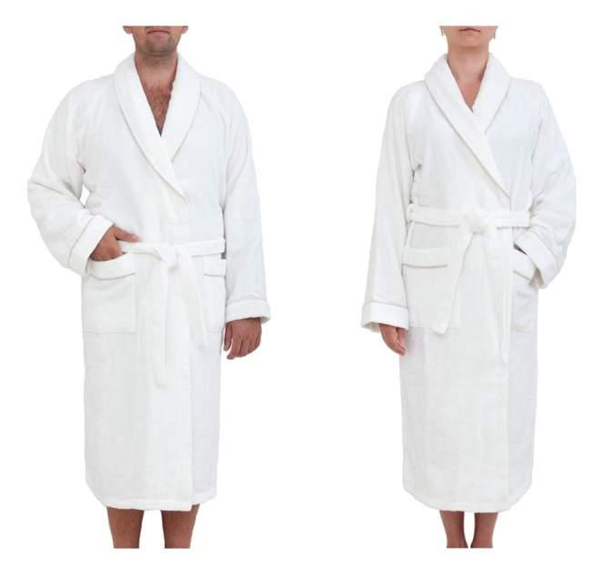 Халат банный Luxberry Basic бело-бежевый (XXL)