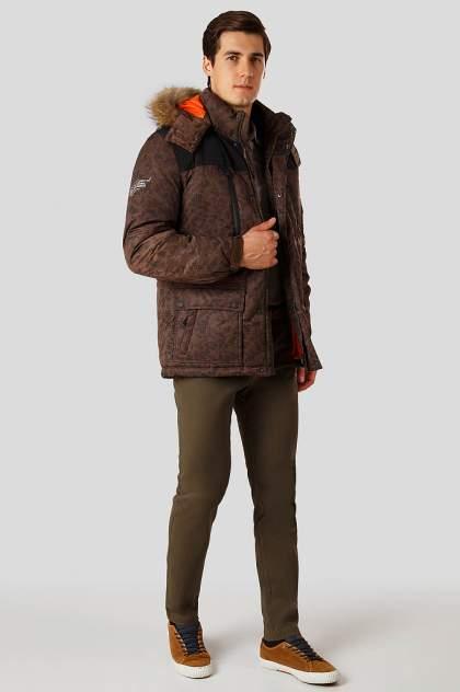 Пуховик мужской Finn Flare A18-42000 коричневый XL