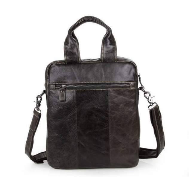 """Мужская сумка через плечо из натуральной кожи """"Кошелькофф"""" темно-коричневая 7266GR"""