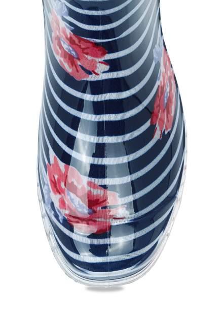 Резиновые сапоги женские T.Taccardi 02207040 синие/белые 36 RU
