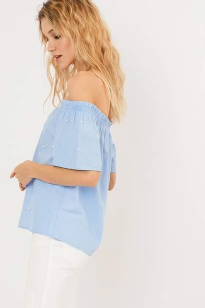 Блуза женская ZARINA 9225117317 голубая 42 RU
