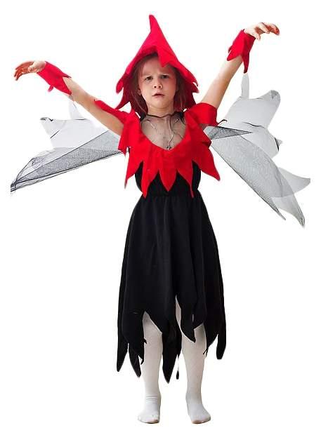Карнавальный костюм Бока Ведьма, цв. черный; красный р.122