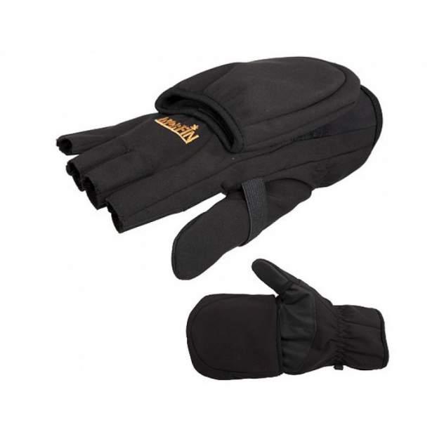 Перчатки-варежки мужские Norfin Softshell, черные, L