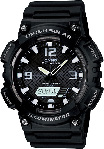 Наручные часы кварцевые мужские Casio Illuminator Collection AQ-S810W-1A