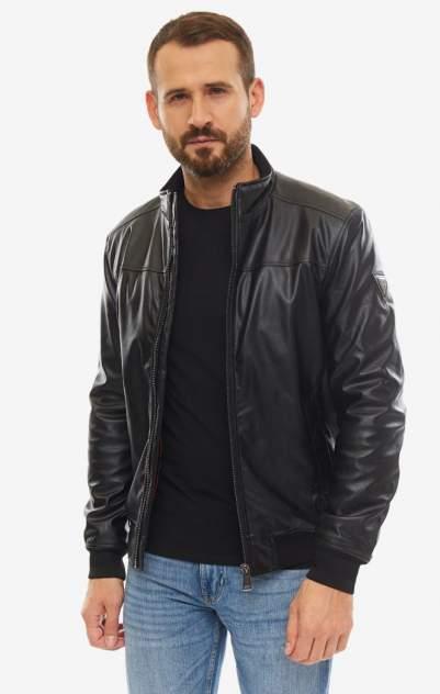 Мужская кожаная куртка Guess M93L04-WBS20-JBLK, черный