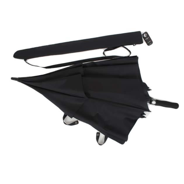 Зонт-трость мужской полуавтоматический Flioraj 232300 FJ черный
