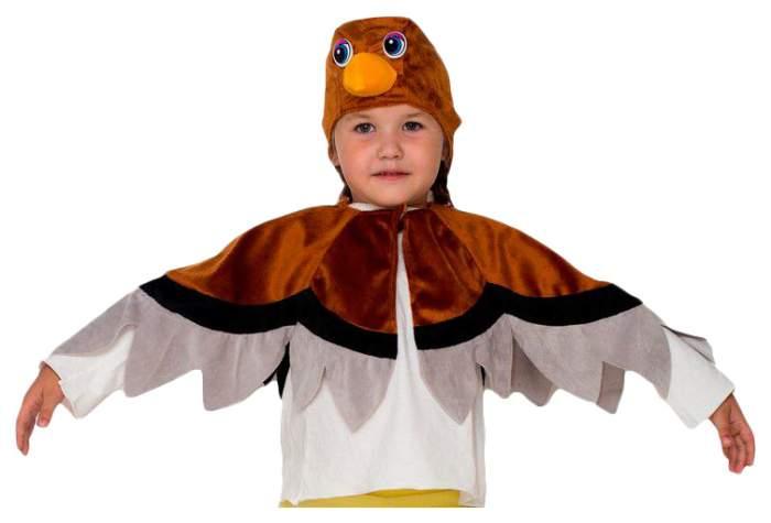 Карнавальный костюм Бока Воробей, цв. коричневый р.122