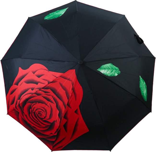 Зонт складной женский автоматический Sponsa 10307 ROSE черный