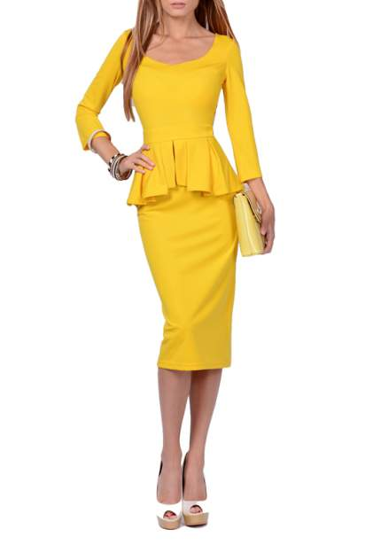 Платье женское FRANCESCA LUCINI F0722-6 желтое 42 RU