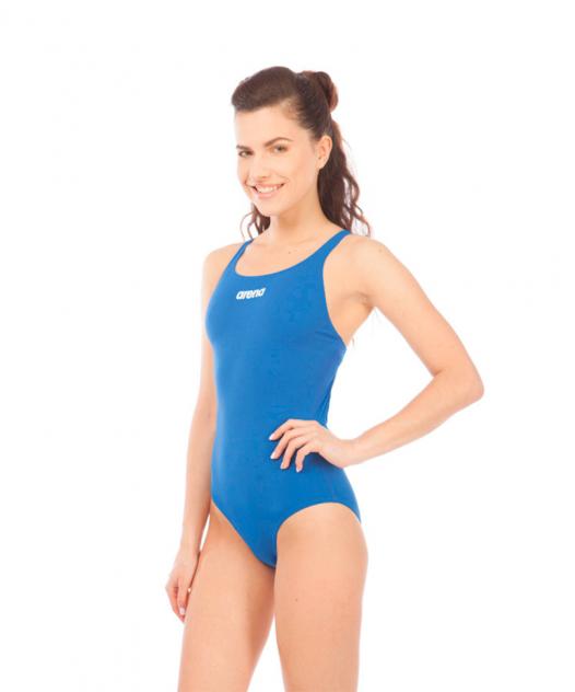 Купальник Arena Solid Swim Pro, royal/white, 46 RU