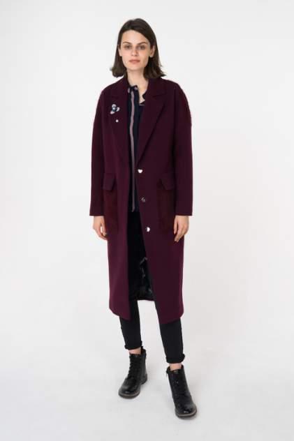 Пальто женское ElectraStyle 4-7038/7-128/273 бордовое 42 RU