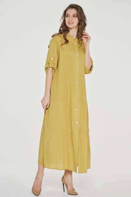 Платье женское VAY 191-3514 желтое 44 RU