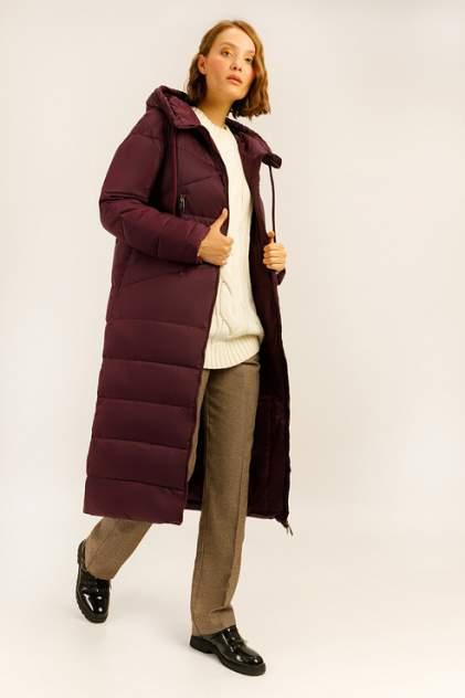 Пуховик-пальто женский Finn Flare A19-12039 бордовый S